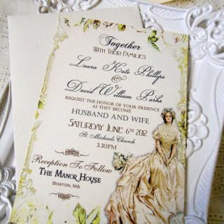 Beautiful Invitations by Natalie of Etsy Shop Sweet Pea Sunday