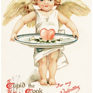 Cupid the Cook Vintage Valentine