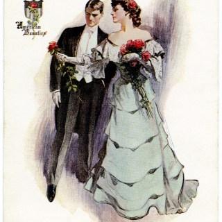 Vintage Postcard ~ American Beauties