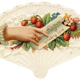 Fan Shaped Victorian Calling Card