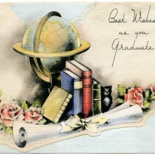 Vintage Graduation Card