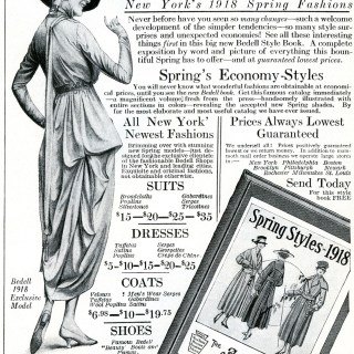 Vintage Fashion Catalogue Ad 1918