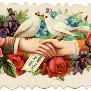 Victorian Calling Card Kindest Regards