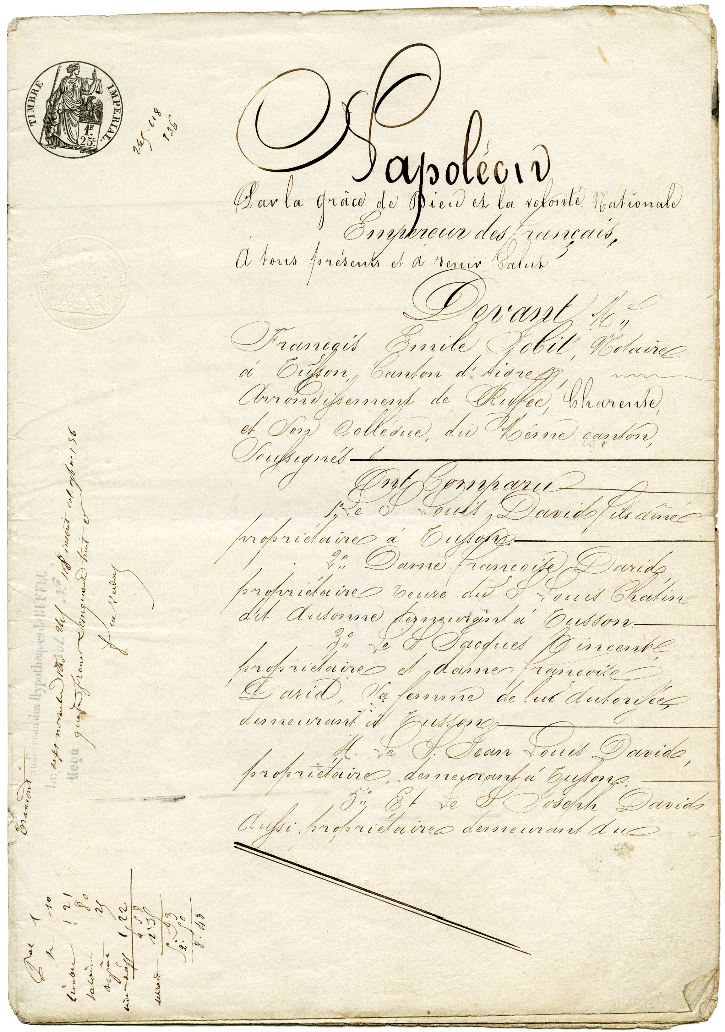 Antique French Legal Sale Document