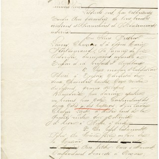 Antique French Legal Sale Document Page 2