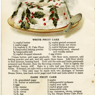 Fruit and Spice Cakes Vintage Recipe