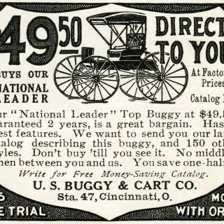 Vintage Buggy Advertisement