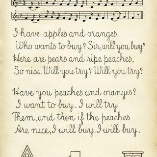 Fruit Song ~ Free Vintage School Lesson