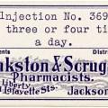 vintage pharmacy label, pinkston scruggs pharmacists label, antique medical label, halloween label, jackson tenn pharmacy, free digital image, vintage clipart label, old pharmacy label