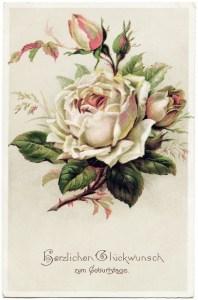 Free Vintage Clip Art Light Pink Rose German Postcard