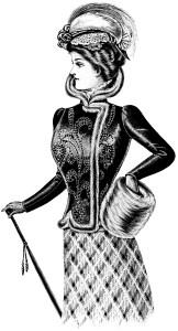 Victorian lady, free printable, ladies fashion 1900, victorian fashion, antique womens clothing, vintage clipart, vintage magazine styles for ladies, free vintage image