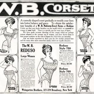 W. B. Corsets Vintage Advertisement