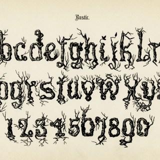 Free Vintage Image ~ Rustic Alphabet