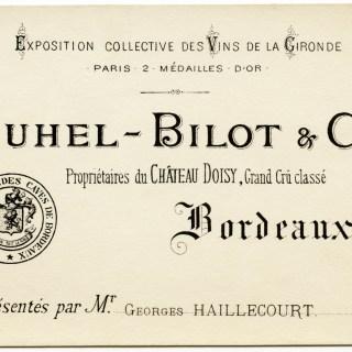 Juhel-Bilot & Cie French Business Card