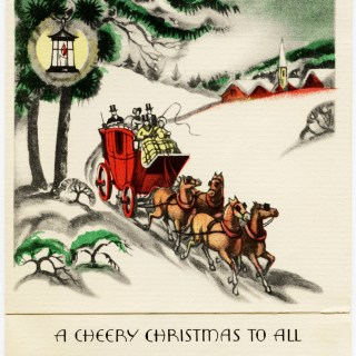 Free Vintage Image ~ A Cheery Christmas Greeting Card