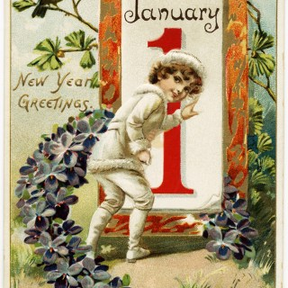 Free Vintage Image ~ Tuck's New Year Postcard