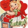 vintage valentine, free valentine graphic, old fashioned greeting card, child valentine printable