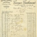 vintage French receipt, antique invoice, old French document, free digital graphics, aged paper