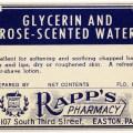vintage ephemera, antique pharmacy label, old rapp's pharmacy label, free digital graphics, old medical label