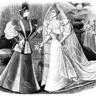 Free Image ~ Vintage Bride Clip Art