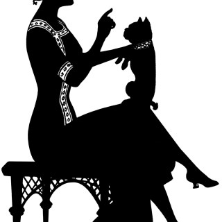Free Vintage Image ~ Silhouette of Lady
