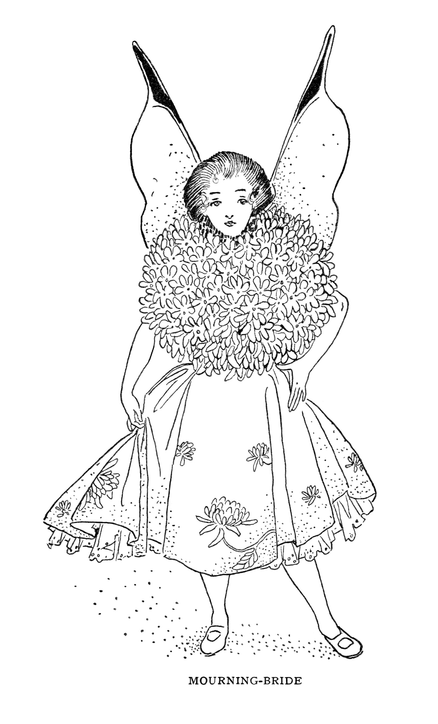 Mourning Bride Storybook Character