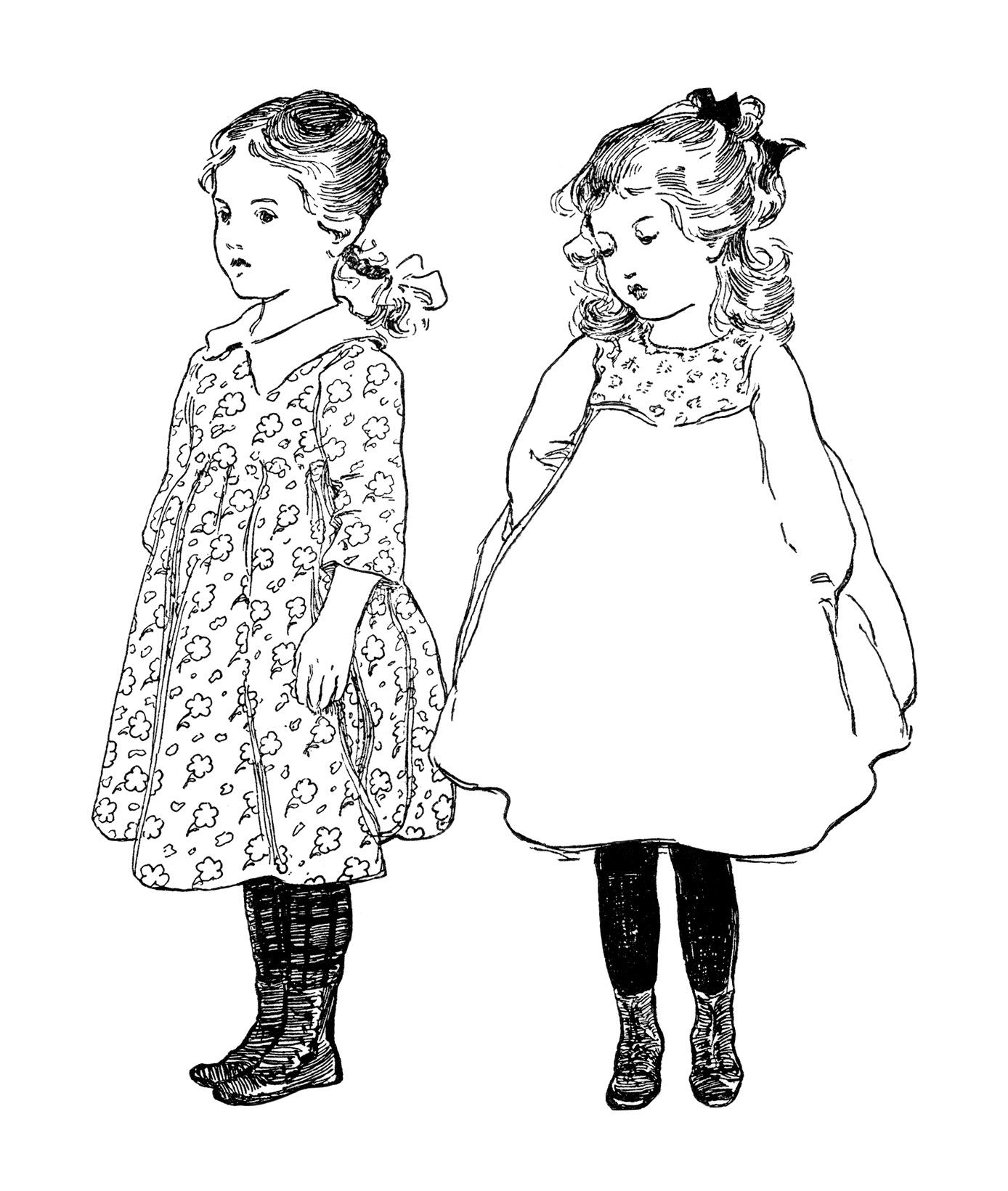 Free Vintage Image School Girl Poem And Clip Art