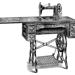 Vintage Sewing Machine ~ Free Clip Art