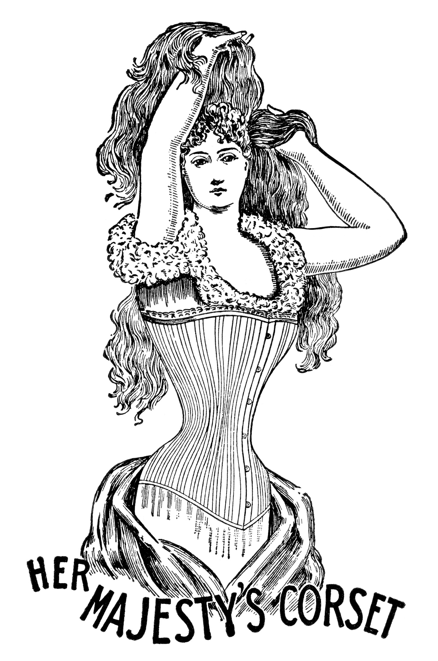 Her Majesty S Corset Free Clip Art