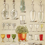 Now Available in My Etsy Shop ~ Mrs. Beeton's Table Glass