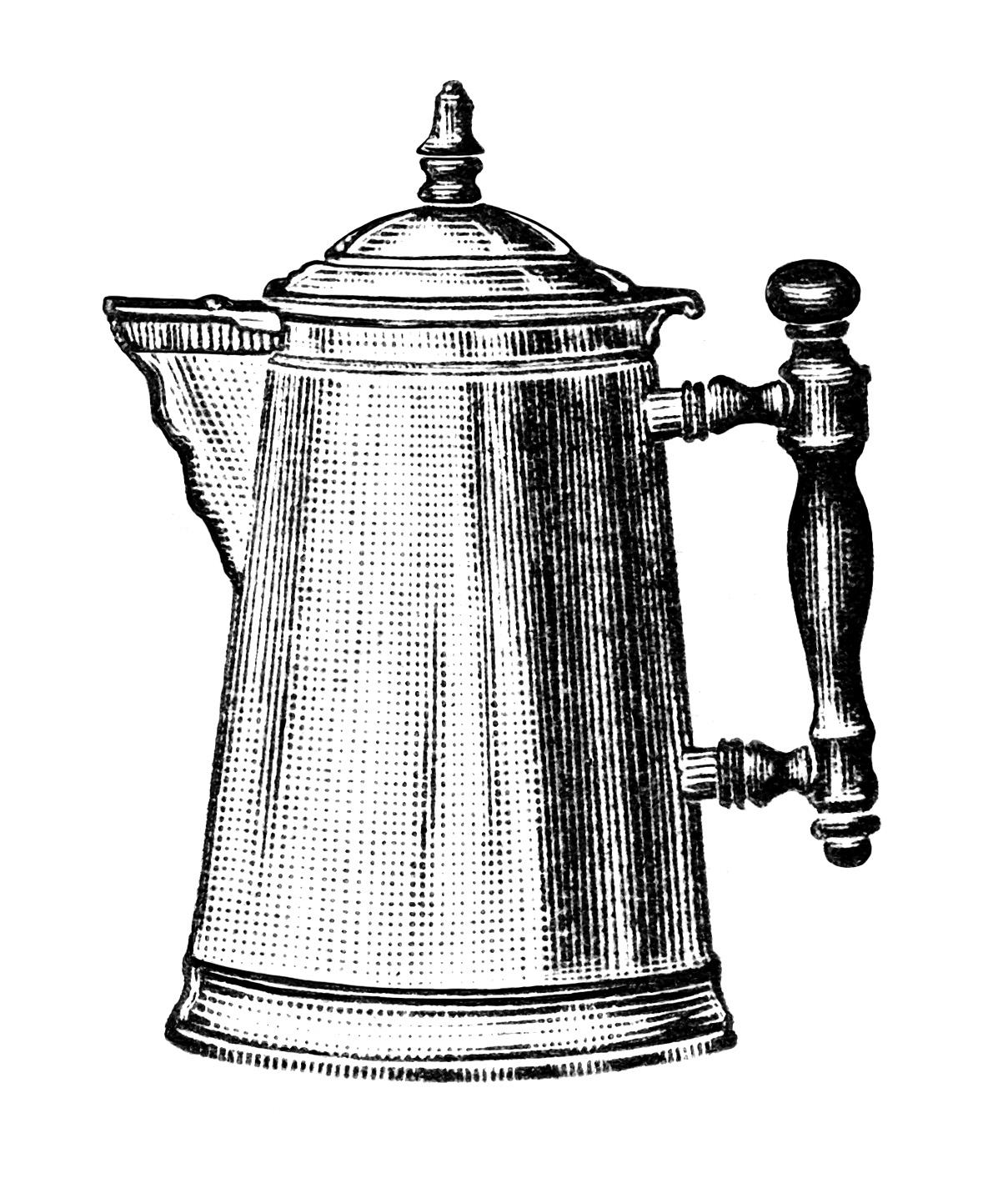 Free Vintage Coffee Pot Clip Art