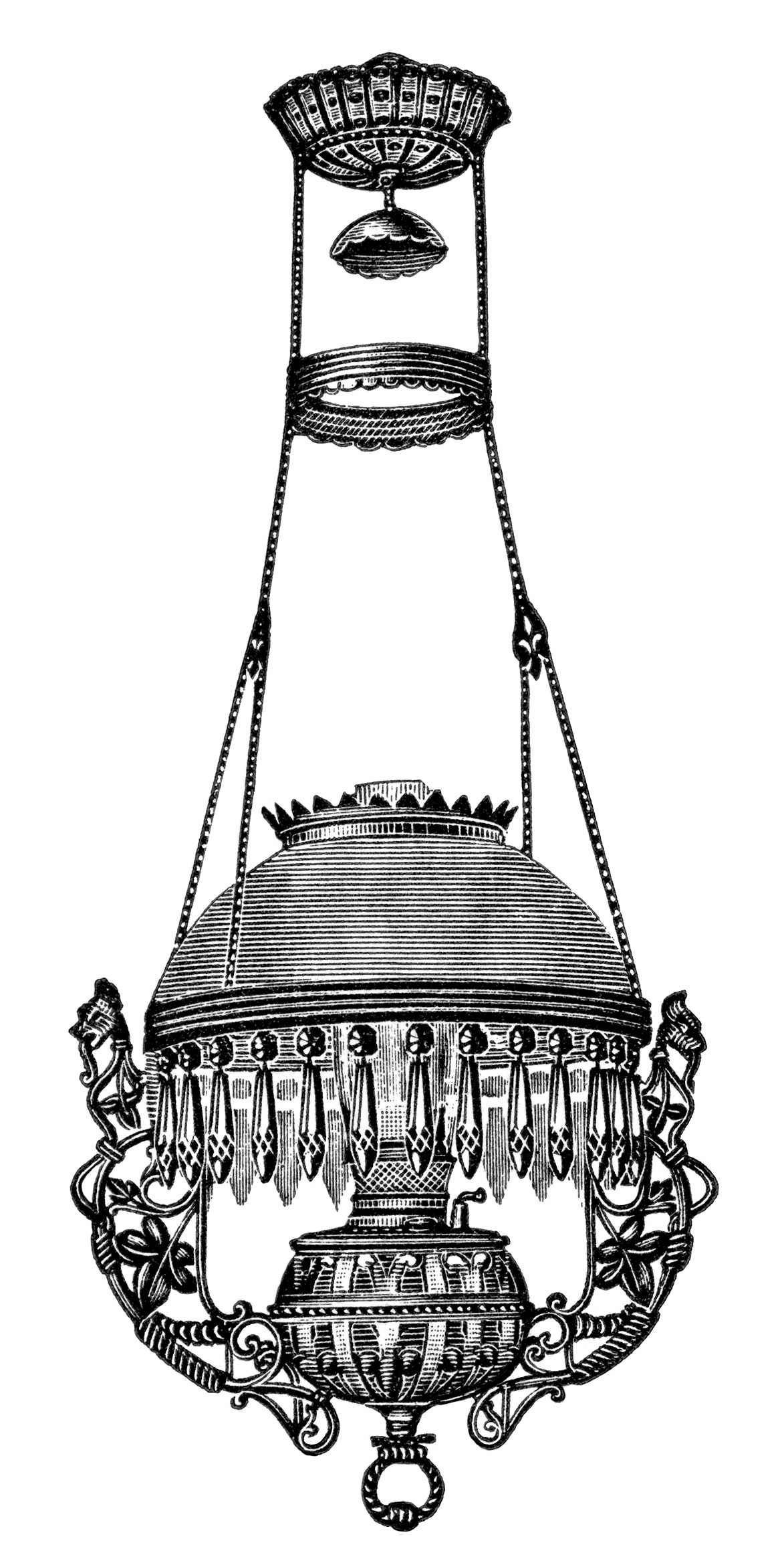 Hanging Lamps Vintage Clip Art