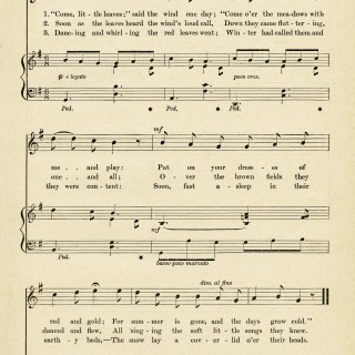 Come Little Leaves Sheet Music ~ Free Vintage Image