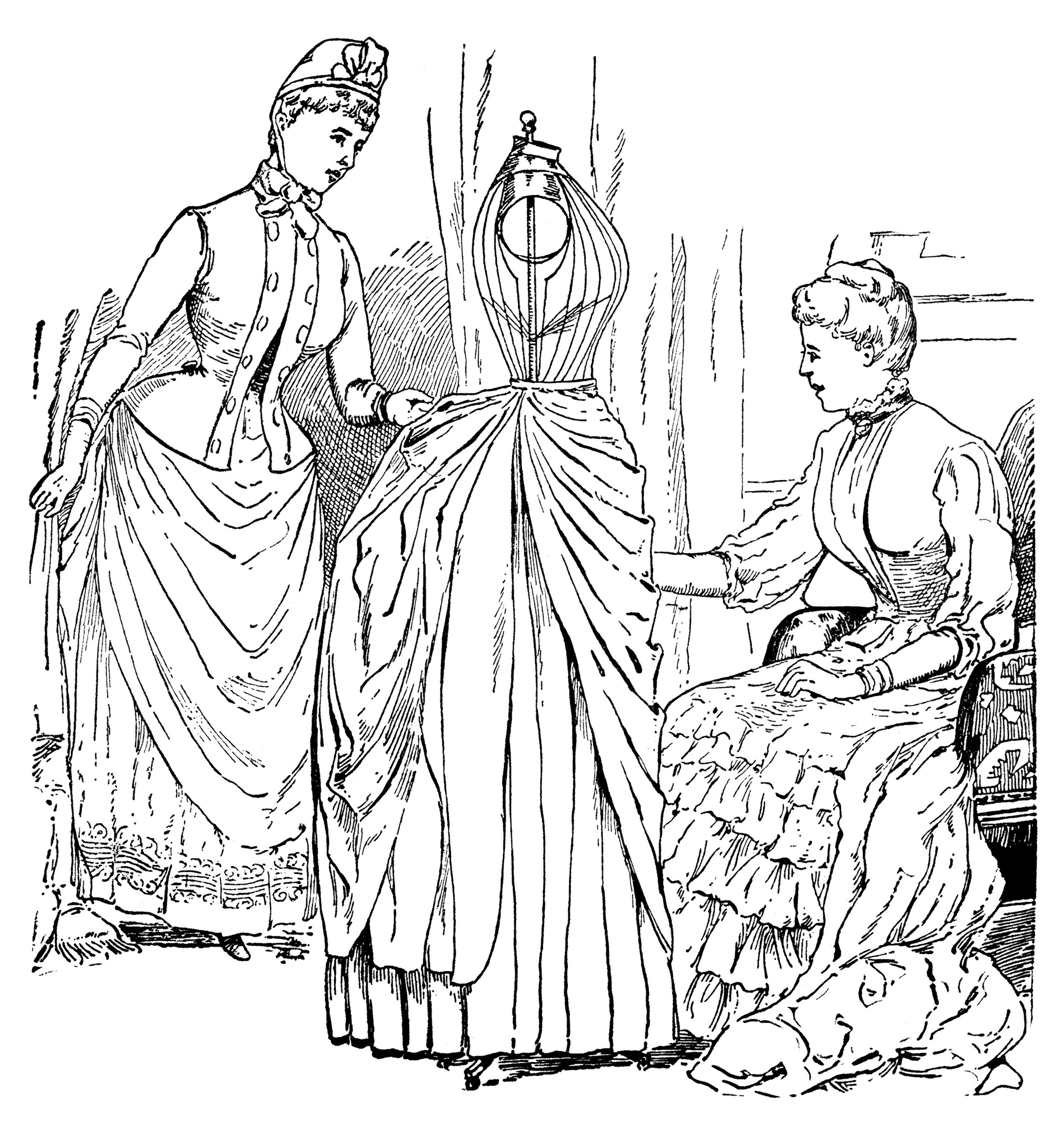 Sewing Dress Form Vintage Ad And Clip Art Free Graphics