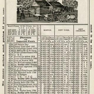 Free Vintage Image ~ Herrick's Almanac 1906, November