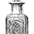 vintage perfume clipart, lundborg heather of the links, antique magazine ad, free black and white clip art, ladd coffin advertising
