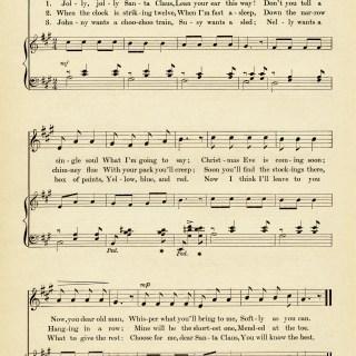 Jolly Santa Claus Vintage Sheet Music ~ Free Graphic