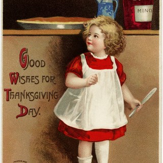 Clapsaddle Girl in Red Dress Postcard