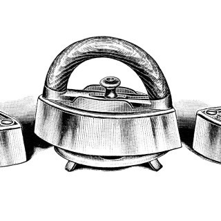 Antique Clothing Iron ~ Free Vintage Clip Art