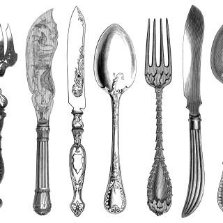 Antique Cutlery Engravings ~ Free Clip Art