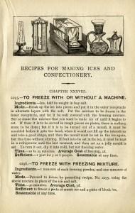 homemade ice cream recipe, vintage ice cream, Mrs Beeton, shabby cookbook page, old fashioned ice cream, free vintage ephemera