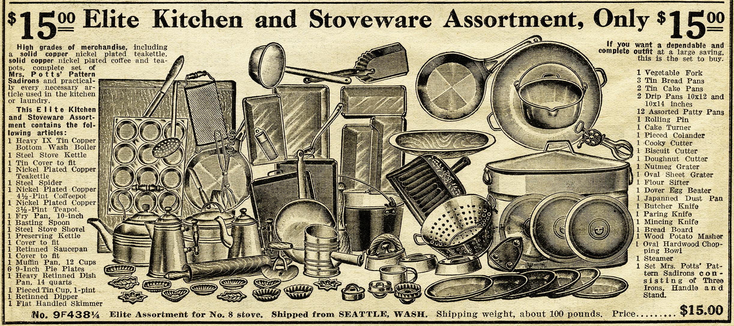 Antique Kitchen Stoveware Assortment ~ Free Catalogue Ad ...