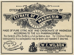 old poison label, citrate of magnesia, vintage pharmacy label, free vintage ephemera, antique medicine