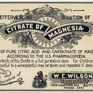W. C. Wilson Druggist Citrate of Magnesia Label