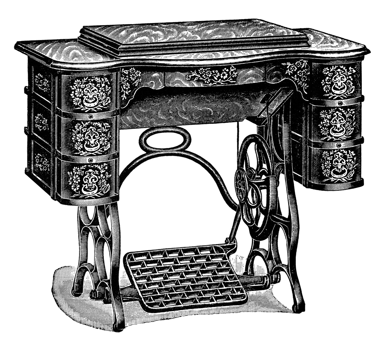 Free Vintage Treadle Sewing Machine Images