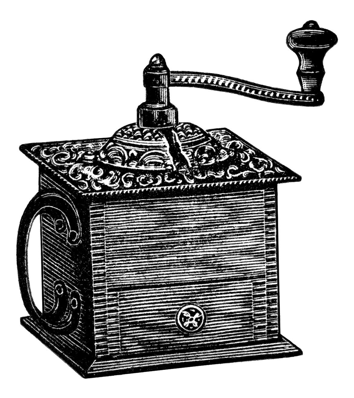 Vintage Coffee Grinder ~ Free Clip Art | Old Design Shop Blog