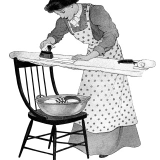 Woman Ironing Clothes ~ Free Vintage Graphics