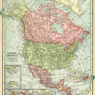 Historical Geography Map of North America ~ Free Vintage Image