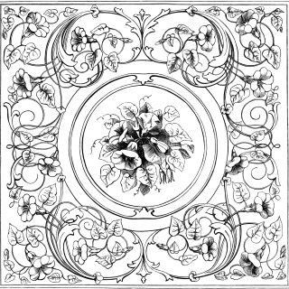 Ornamental Square Design and Frame ~ Free Clip Art