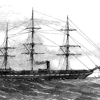 Vintage Sailing Ship ~ Free Clip Art